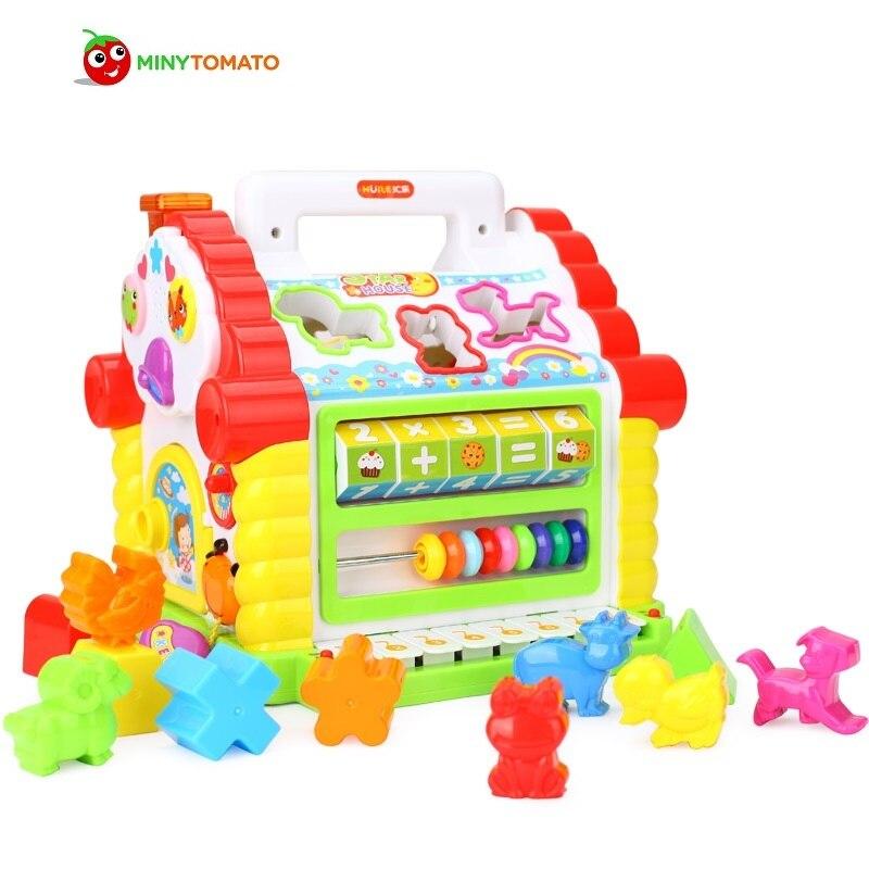 Jouets musicaux multifonctionnels colorés bébé amusement maison blocs géométriques électroniques tri apprentissage jouets éducatifs cadeaux nobox