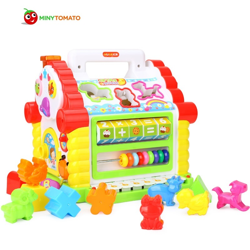 Multifunctional Musical Toys Colorful Baby Fun House Electronic Geometric Blocks Sorting Learning Educational Toys Gifts nobox marumi mc close up 1 55mm