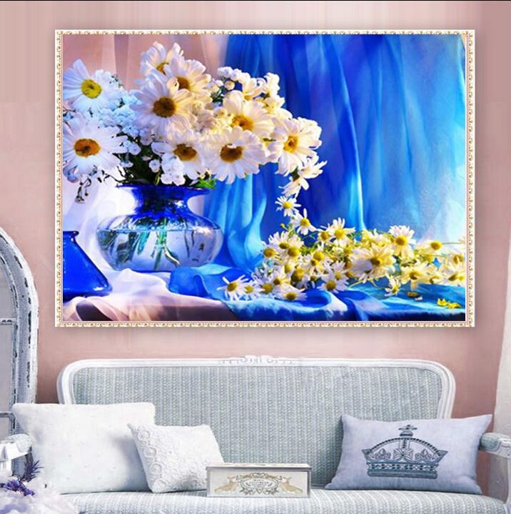 Uzequ 5d diament malarstwo cross stitch chryzantemy kwiat diament - Sztuka, rękodzieło i szycie - Zdjęcie 2