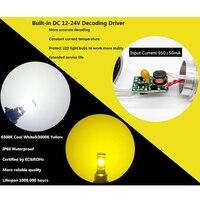 white light car CJXMX H7 LED Car Fog Light Bulbs 1600LM 6500K White 3000K Yellow H1 H3 H4 H11 9005/HB3 9006/HB4 1156 Led Auto Lamp Driving Bulbs (4)