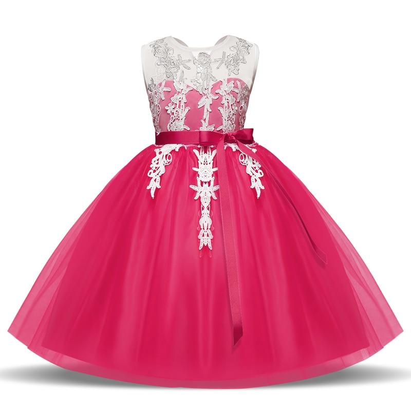 Girls Wedding Dress 2018 Lace Floral Carnaval Teen Girl Summer Tutu ...