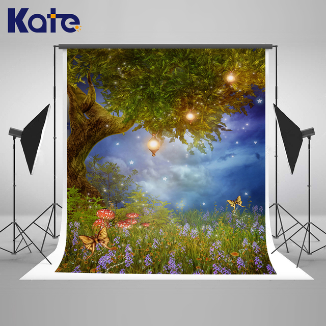 Kate Dream Forest Baby Shower Backdrop With Butterfly Light Photography  Backdrops Trees Scenic Princess Photography Backdrops