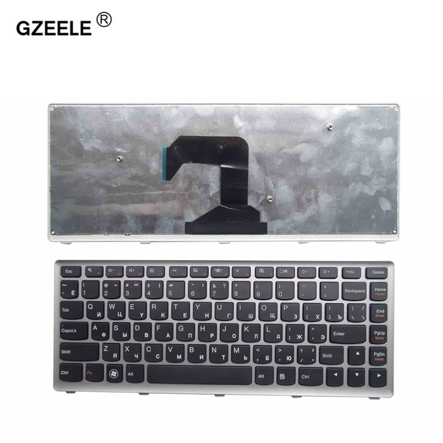 GZEELE New Laptop Keyboard For Lenovo U410 U410-ITH IFI Black Key Silver Frame Russian RU Version - MP-11K93SU-6862