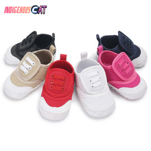 Baby Boy Girl Sneakers First Walkers Soft Bottom Crib Shoes Infant Toddler Soft Sole Anti-slip Baby Shoes Size Born 0To18 Months цена