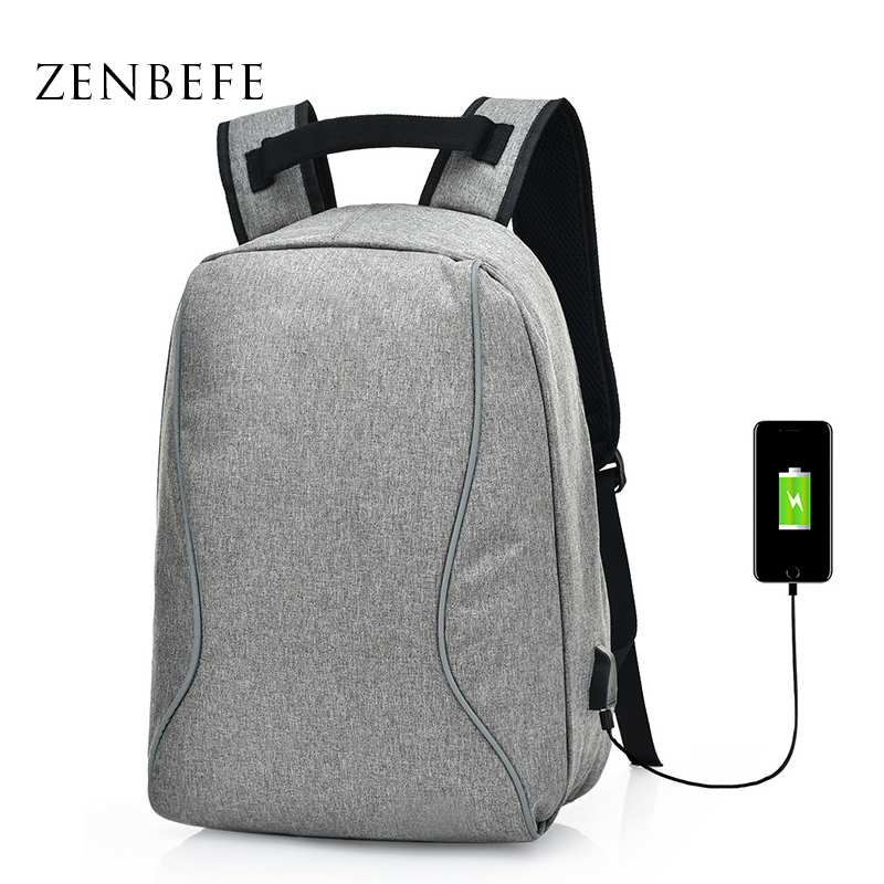 ZENBEFE New School Backacks MenS Travel Bag Bakcpack For 15 Inch Laptop Bags Business Travel Backpacks Student School Bags