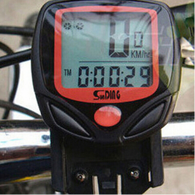 Bike Computer S548B Waterproof LCD Bicycle Computer Display Bike Odometer Speedometer 14 Functions odometer stopwatch BCP0101