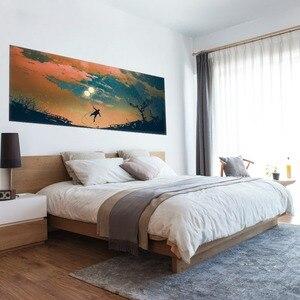 Image 5 - יפה שמיים בלון ונער קיר מדבקת מיטת ראש שינה לילדים מדבקות קיר מדבקת בית תפאורה לילדים של שינה