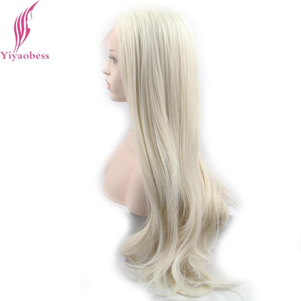 Yiyaobess Glueless Φυσική Λευκή Ξανθιά Ombre - Συνθετικά μαλλιά - Φωτογραφία 2