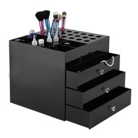 Acrylic 4 Tiers Makeup Organizer Storage Box Drawer Holder Cosmetic Jewelry Display Collecting Storing