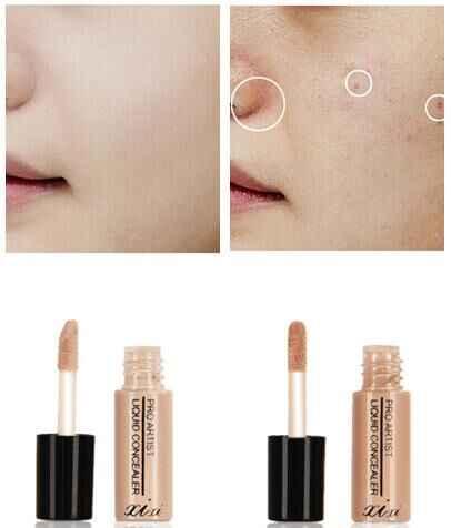 איפור נוזל קונסילר מקל להסתיר פגם קרם קונסילר שפתיים/כהה עין מעגל כיסוי קונסילר לאורך זמן