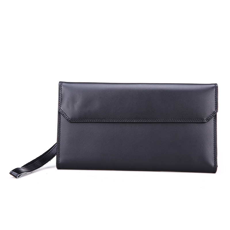 New Fashion 100% Genuine Leather Men's Clutch Bags Long Man Phone Wallet Large Capacity Male Purse Card Holder Men Hand Bags baellerry business wallet clutch long men purse hot sale card holder designer hand bags for man handy bags bid162 pm49