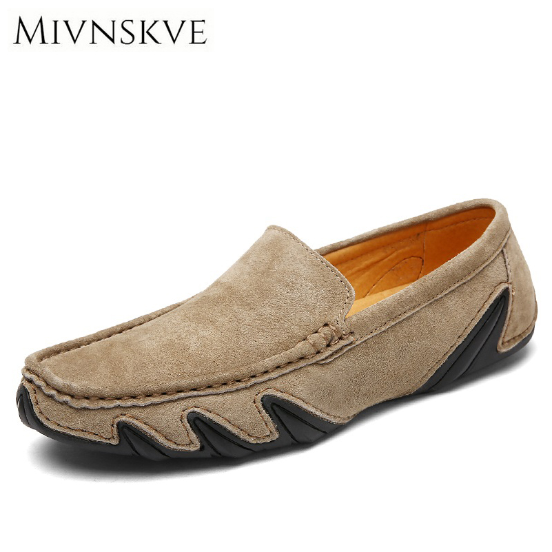 MIVNSKVE Brand New Fashion Summer Spring Men Driving Shoes Loafers Real Leather Boat Shoes Breathable Male Casual Flats Loafers 2016 new style summer casual men shoes top brand fashion breathable flats nice leather soft shoes for men hot selling driving