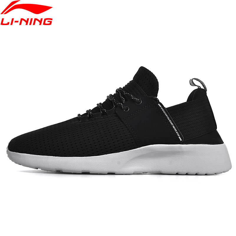 Li-Ning Men's Sports Life Walking Shoes Leisure Jogging Sport Shoes Breathable LiNing Comfort Black Sneakers GLKN025 YXB178 цена