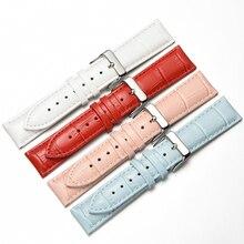 цены watchband for watch genuine cow leather men Watch women fashion bracelet  strap wristband 12mm 14mm 16mm 18mm 19mm 20mm 22mm