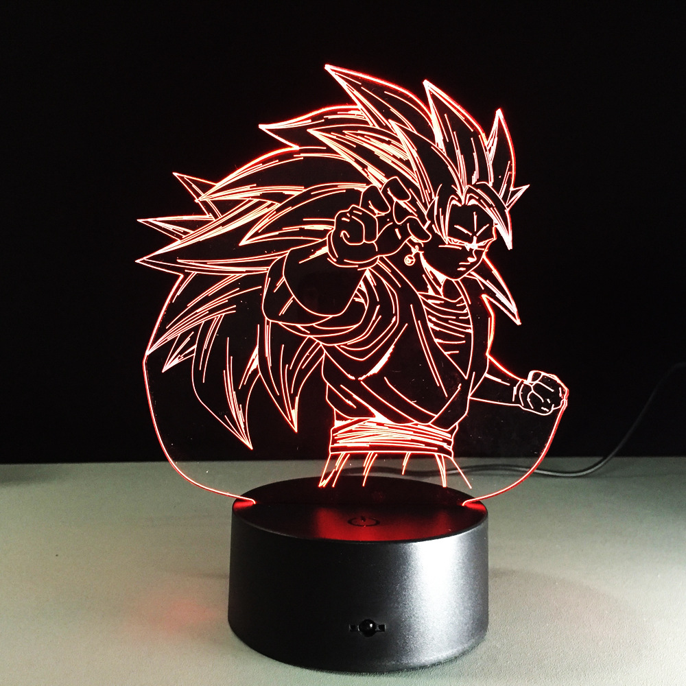 Led Lamps Bright Dragon Ball Broly 3d Rgb Color Changing Led Nightlight Visual Illusion Usb Dragon Ball Super Saiyan Action Figure Anime Dbz Toy