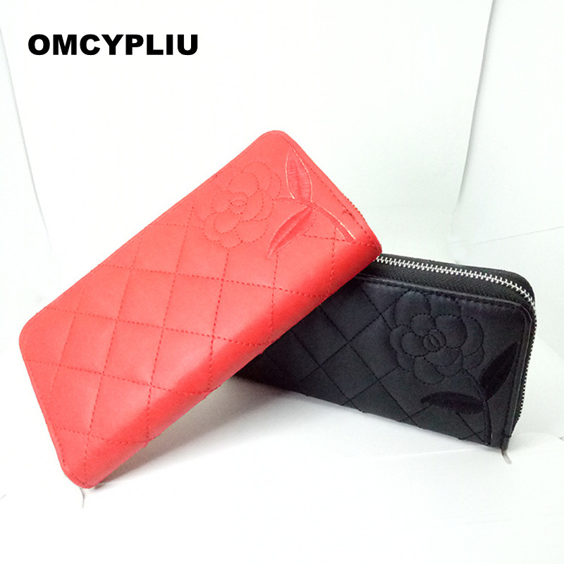 2017 Casual Women Wallets Luxury Design Coin Purse Brand Portable Flowers Purse Female wallet Dollar price