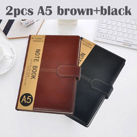 Dislobu A5 Business notebook leather cover holiday gift imitation daily menos office schedule book business planner office gift