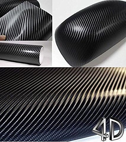 Car Styling 152*30CM Waterproof Car Sticker 4D Carbon Fiber Vinyl Film With Air Free Bubble Car wrap DIY Car Tuning Part Sticker