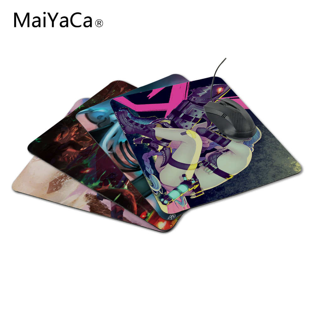 Maiyaca Anime Jinx Lol Fan Art Style Cheap Large Aming Culottes Jumpsuit Ear Anti Slip Durable Mousepad For Pc Optal Mouse