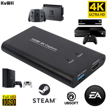 KuWFi USB3.0 HDMI 4K60Hz Video Capture HDMI to USB Video Capture Card Dongle Game Streaming Live Stream Broadcast with MICinput плата видеозахвата elgato game capture hd60 pro