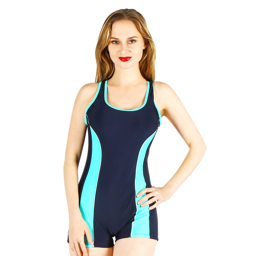 one-piece women swimwear sexy sporty style sling solid color halter striped large size big bust bathing swimsuit female push up sexy style halter neck solid color divided type swimwear for women