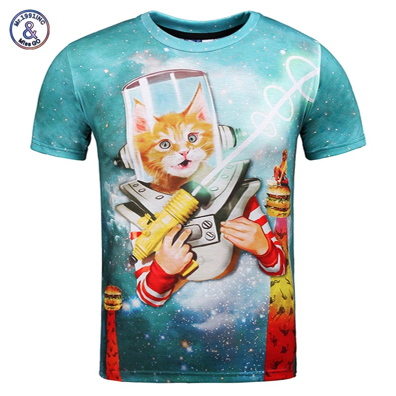 Mr 1991inc space galaxy t shirt men women 3d t shirt print wars cat hamburger hip