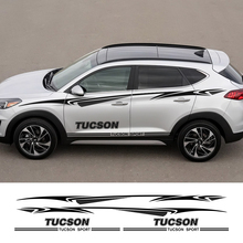 2pcs Car Both Side Door Stickers Vinyl Film Automobiles Sports Graphics Decals For Hyundai Tucson Styling Tuning Car Accessories