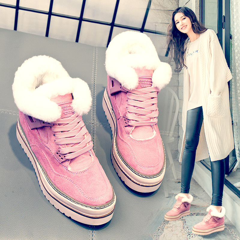 ECTIC winter Women Casual Shoes Suede Leather Platform Shoes Women Sneakers Ladies Wedges Trainers Chaussure Femme Footwea DC-10 winter women casual shoes suede platform plus velvet shoes women keep warm sneakers ladies white trainers chaussure femme c340