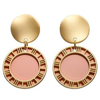 Geometric Shell Earrings For Women Earrings Jewelry Women Jewelry Metal Color: FCS177112
