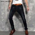Hee grand hombres jeans de moda 2017 encuadre de cuerpo entero pantalones de mezclilla mediados de cintura alta elasticidad cuatro estaciones delgado demin pantalones mkn877