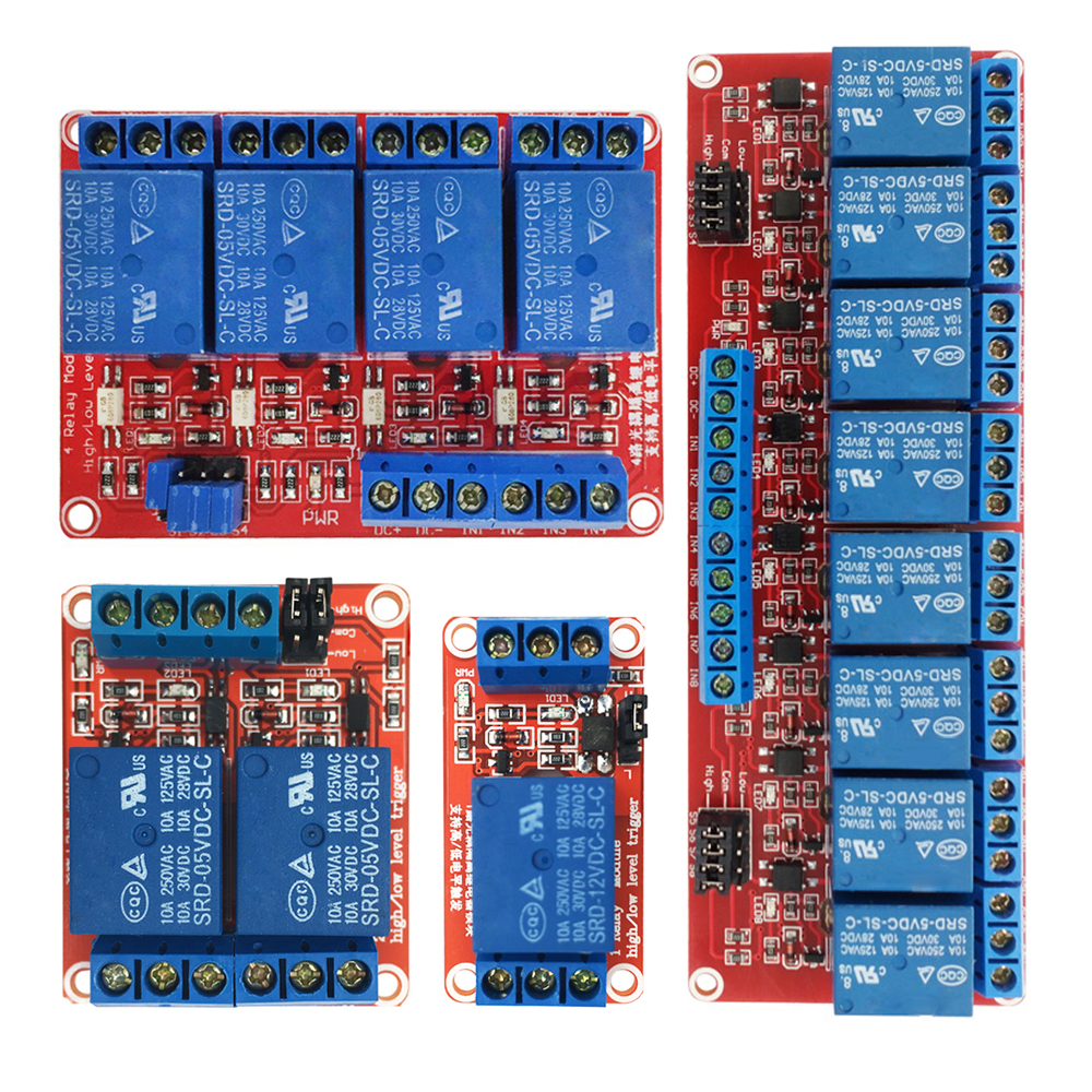 DC 12V 8 Channel High Low Level Dyal Trigger Relay Module Board