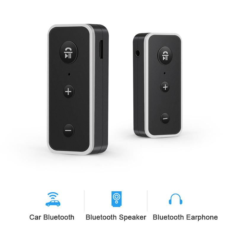 Image 5 - Rovtop Bluetooth 5.0 Receiver Car Kit Stereo Music 3.5mm AUX Audio Wireless Handsfree Adapter For Headphone Speaker with Mic Z2-in Bluetooth Car Kit from Automobiles & Motorcycles