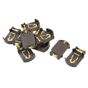 Image 1 - Soporte de base de pila de botón de plástico, 10 x CR2032, para café SMD SMT