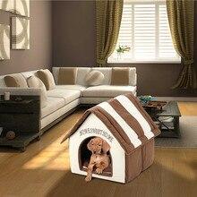 Дом для собак Портативная Домашняя кровать для домашних животных мягкая теплая и удобная кошка собака Милая комната домашние лежанки для собак с подушкой диван спальный
