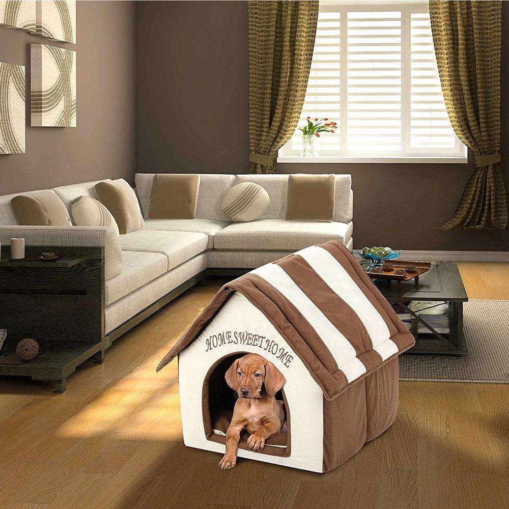 ISHOWTIENDA Portable Indoor Pet Bed Dog House Soft Warm ...