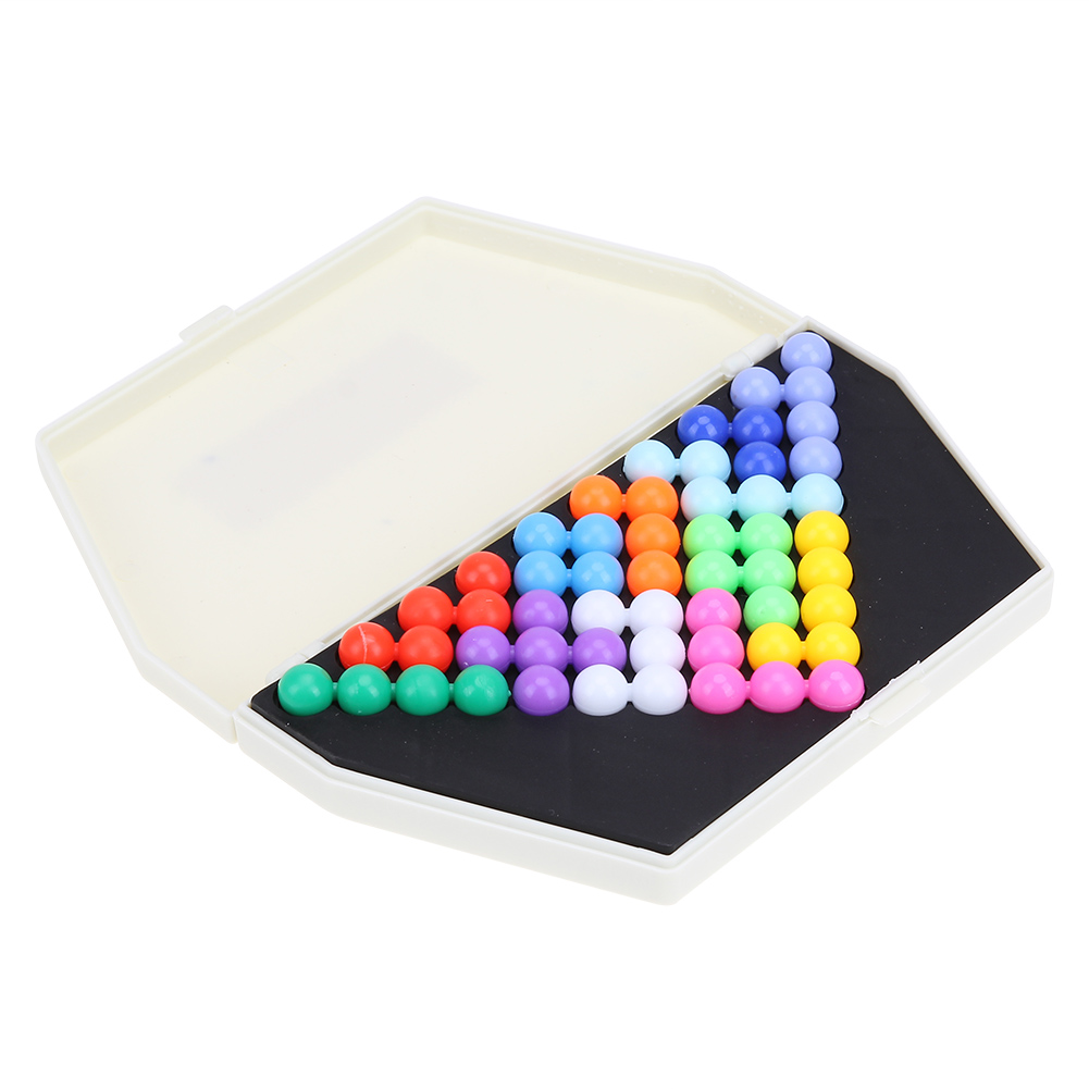 Classic Puzzle Pyramid Beads Plate IQ Pearl Logical Mind Game Brain Teaser Educational font b Toys