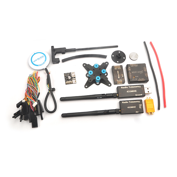 Mini APM Flight Control Kit Micro OSD Mini APM NEO-6M GPS 3DR 433Mhz 915Mhz Radio Telemetry Power Supply Module for Multicopter ublox neo 6m gps module mini apm pro flight controller board power module xt60 plug for rc quadcopter helicopter airplane