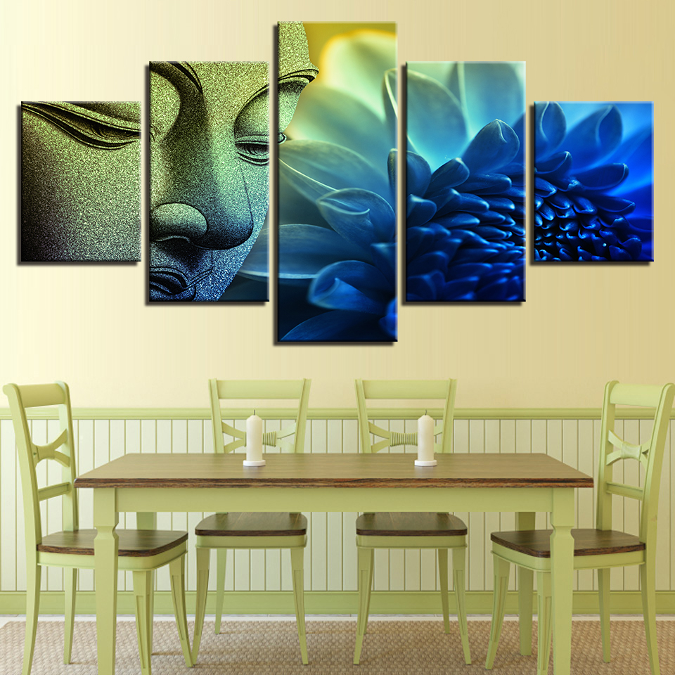 Buy blue buddha wall art and get free shipping on AliExpress.com