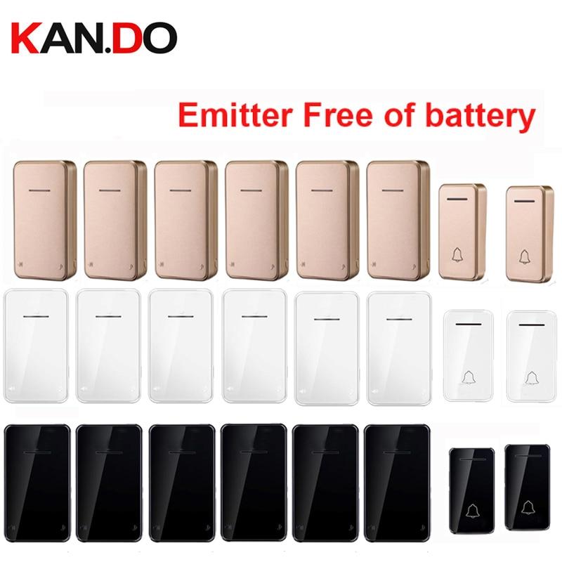 3 COLOR Emitter Free Of Battery Bell Kits 2 TX 6 RX Wireless Door Bell 110-220V Wireless Doorbell Ip44 200M Door Chime Door Ring