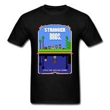 T-shirt en coton 100% respirant Stranger Bros 90, grosse remise, t-shirt drôle de dessin animé pour étudiant, meilleur cadeau t-shirt Stranger Things