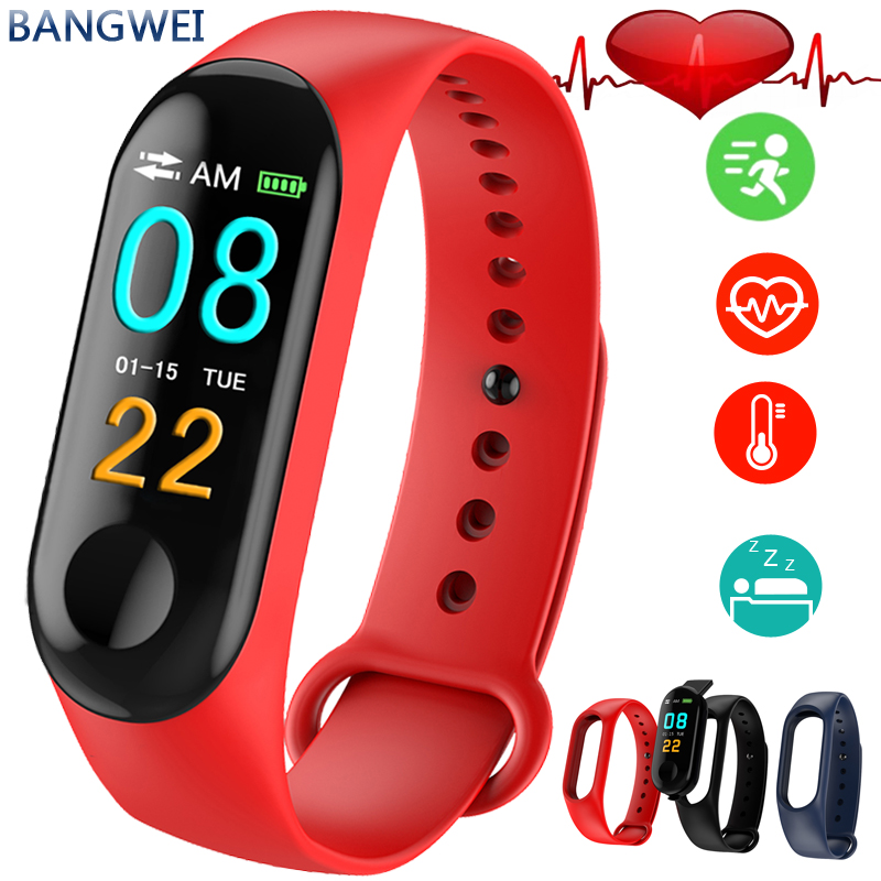 BANGWEI New 2019 Women Smart Watch LED Color Screen Fashion Sports Pedometer Smart Watch For Android ios Relogio Inteligente in Women 39 s Watches from Watches