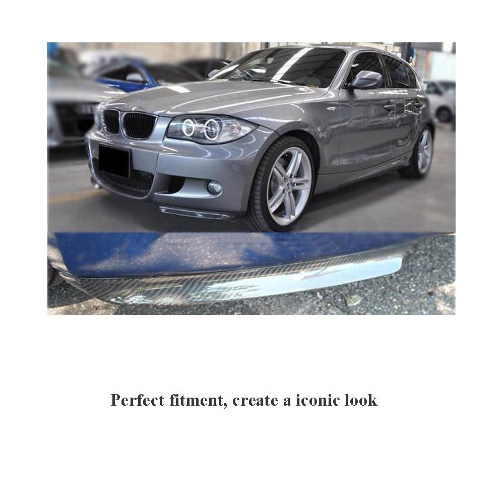 Для BMW 1 серии E87 M Tech 2007-2011 передний бампер для губ боковые разветвители фартуки закрылки Cupwings углеродное волокно/FRP