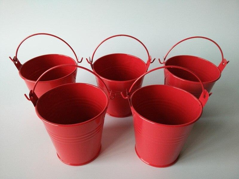 20pcs/Lot D7.5XH7.5CM Bonsai Bacony Flowerpots Mini Planter Pure Garden  Bucket Red Metal Seed Buckets Red Planter And Pot In Flower Pots U0026 Planters  From ...