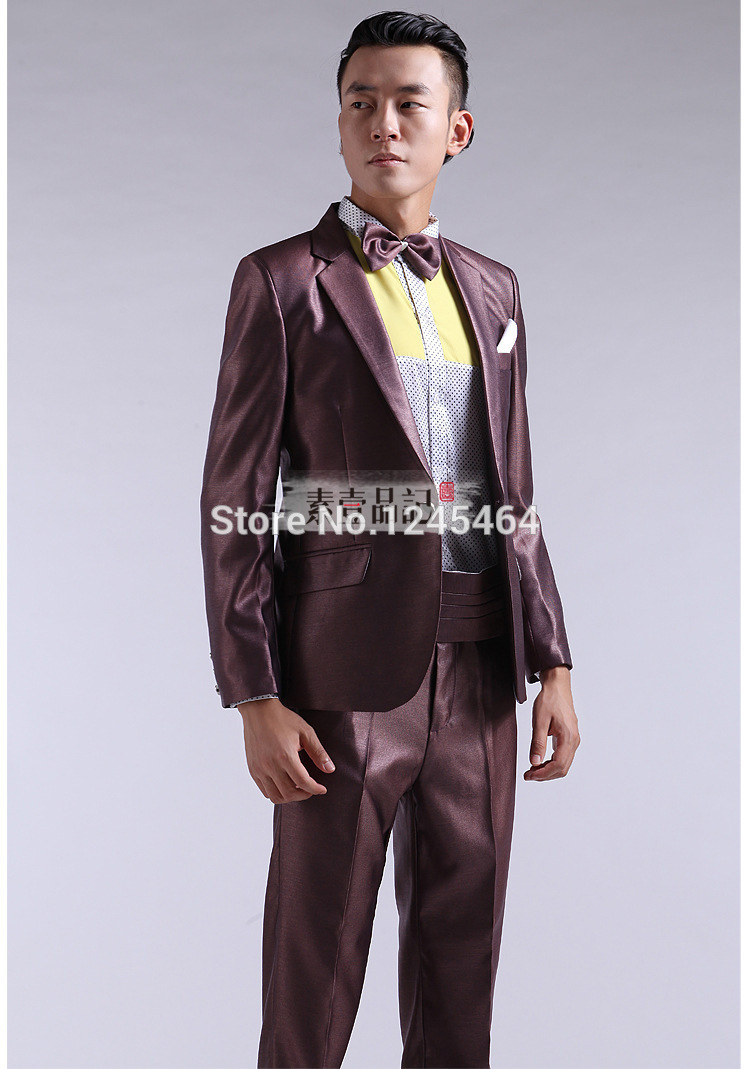 6 colors(red yellow blue green suit)Men s Wedding Dress Groom ... 3e66f1dd9162