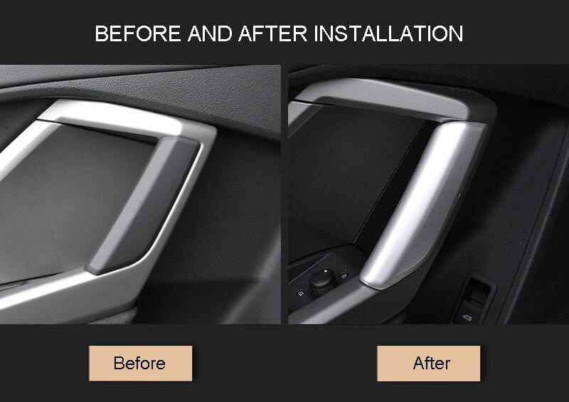 For Q3 2012-2017 Stainless Steel Matte Door Armrest Window Lift Cover Trim 4pcs Car Stytle Accessoies