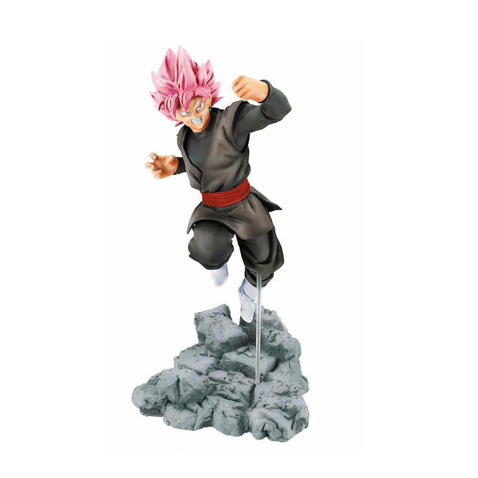 Tronzo figura de ação dragon ball goku troncos zamasu pvc figura de ação brinquedos dragon ball super saiyan rosa goku preto modelo brinquedos