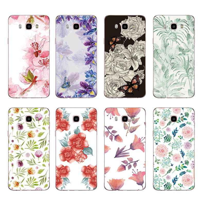 Soft TPU Phone Case For Samsung A3 A5 J3 J5 J7 J1 J2 S6 S7 S8 S8plus note8 c5 c7 c9 Colorful Flora Flower Face Painted Design017