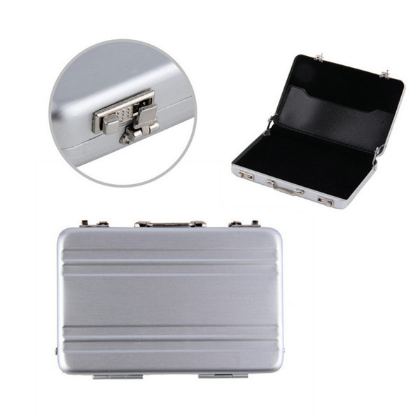 Mini briefcase business card case id holders password silver getsubject aeproducttsubject colourmoves