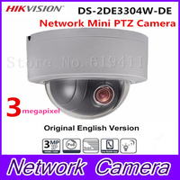 In Stock English Version CCTV Camera DS 2DE3304W DE 3MP Network Mini PTZ Repositionable 2 8mm