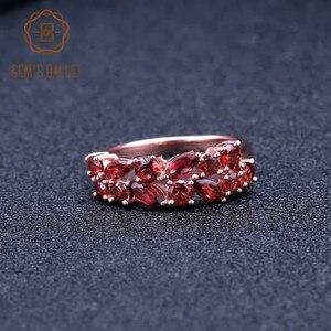 Image 4 - GEMS BALLET 925 Sterling Silver Rose Gold Plated Wedding Band 2.47Ct Natuurlijke Rode Granaat Edelsteen Ringen voor Vrouwen Fijne Sieraden
